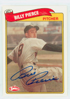 Bill Pierce AUTOGRAPH d.15 Swell White Sox 