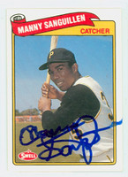 Manny Sanguillen AUTOGRAPH Swell Pirates 