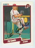 Pat Combs AUTOGRAPH 1990 Fleer Phillies 