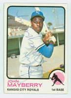 John Mayberry AUTOGRAPH 1973 Topps #118 Royals CARD IS VG/EX  [SKU:MaybJ604_T73BBi2]