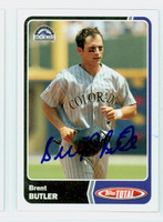 Brent Butler AUTOGRAPH 2003 Topps Total Rockies 