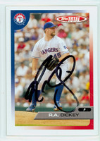 R.A. Dickey AUTOGRAPH 2005 Topps Total Rangers 