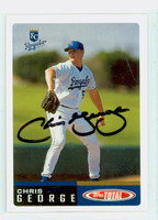 Chris George AUTOGRAPH 2002 Topps Total Royals 