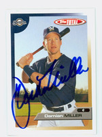 Damian Miller AUTOGRAPH 2005 Topps Total Brewers 