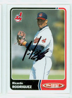 Ricardo Rodriguez AUTOGRAPH 2003 Topps Total Indians 