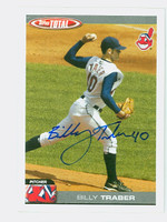 Billy Traber AUTOGRAPH 2004 Topps Total Indians 
