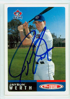 Jayson Werth AUTOGRAPH 2002 Topps Total Blue Jays 