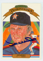 Joe Niekro AUTOGRAPH d.06 1983 Donruss Diamond King Astros 