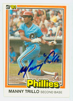 Manny Trillo AUTOGRAPH 1981 Donruss Phillies 