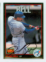 Derek Bell AUTOGRAPH Donruss Triple Play Blue Jays 