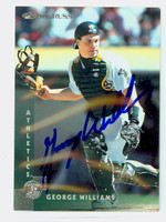 George Williams AUTOGRAPH 1997 Donruss Athletics 