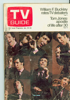 1970 TV Guide Jan 24 Tom Jones Northen Indiana edition Good to Very Good - No Mailing Label  [Heavy scuffing and some staining on cover; contents fine]