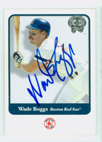 Wade Boggs AUTOGRAPH 2001 Fleer Greats of the Game Red Sox 