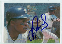 Tony Fernandez AUTOGRAPH 1995 Fleer Flair Yankees 