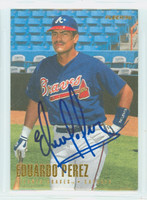 Eduardo Perez AUTOGRAPH 1996 Fleer Braves 