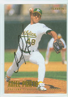 Ariel Prieto AUTOGRAPH 1996 Fleer Athletics 
