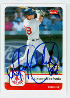 Alejandro Machado AUTOGRAPH 2006 Fleer Red Sox 