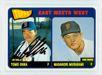Tomokazu Ohka AUTOGRAPH 2001 Topps East Meets West 1965 Topps Design Red Sox 