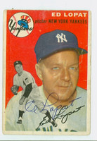 Ed Lopat AUTOGRAPH d.92 1954 Topps #5 Yankees CARD IS F/P; BENDING