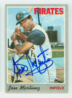 Jose Martinez AUTOGRAPH d.14 1970 Topps #8 Pirates CARD IS CLEAN EX
