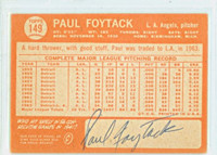 Paul Foytack AUTOGRAPH 1964 Topps #149 BACK SIGNED Angels CARD IS CLEAN EX  [SKU:FoytP555_T64BBBS]