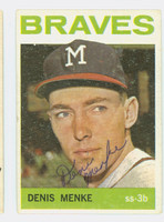 Denis Menke AUTOGRAPH 1964 Topps #53 Braves CARD IS CLEAN VG; AUTO CLEAN