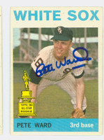 Pete Ward AUTOGRAPH 1964 Topps #85 White Sox CARD IS VG; AUTO CLEAN