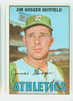 1967 Topps Baseball 17 Jim Gosger Kansas City Athletics Excellent to Excellent Plus