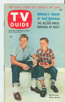 1953 TV Guide May 15 Ricky and David Nelson Chicago edition Excellent to Mint - No Mailing Label  [Very lt toning on cover, ow very clean]