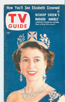 1953 TV Guide May 29 Queen Elizabeth Cincinnati-Dayton edition Excellent to Mint  [Lt wear on both covers, ow very clean; label on reverse]