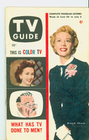 1953 TV Guide Jun 26 Dinah Shore Cincinnati-Dayton edition Very Good to Excellent - No Mailing Label  [Lt creasing on cover, contents fine]