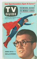 1953 TV Guide Sep 25 George Reeves as Superman Mid States edition Excellent - No Mailing Label  [Lt wear on both covers, toning along binding, ow very clean]