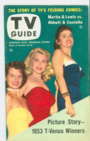 1953 TV Guide Oct 16 Beauty Contest Winners (Angie Dickinson) Mid States edition Excellent to Mint - No Mailing Label  [Lt wear on cover, ow very clean]