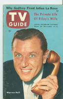 1953 TV Guide Nov 6 Warren Hull NY Metro edition Excellent  [Wear and spotting on both covers; lbl stamped on reverse; contents fine]