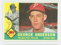 Sparky Anderson AUTOGRAPH d.10 1960 Topps #34 Phillies ROOKIE CARD CARD IS VG/EX; AUTO CLEAN