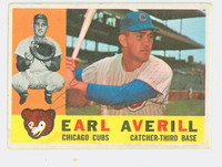 Earl Averill AUTOGRAPH d.15 1960 Topps #39 Cubs CARD IS VG; AUTO CLEAN