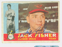 Jack Fisher AUTOGRAPH 1960 Topps #46 Orioles CARD IS F/G; LT CREASES, AUTO CLEAN