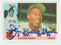 Jim Grant AUTOGRAPH 1960 Topps #14 Indians CARD IS F/G; LT CREASES