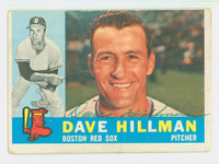Dave Hillman AUTOGRAPH 1960 Topps #68 Red Sox CARD IS F/G; LT CREASES, AUTO CLEAN
