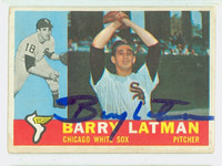 Barry Latman AUTOGRAPH 1960 Topps #41 White Sox CARD IS VG; AUTO CLEAN