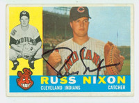 Russ Nixon AUTOGRAPH 1960 Topps #36 Indians CARD IS CLEAN VG/EX
