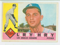 Larry Sherry AUTOGRAPH d.06 1960 Topps #105 Dodgers CARD IS CLEAN VG/EX  [SKU:SherL1480_T60BBcc]