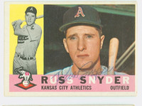 Russ Snyder AUTOGRAPH 1960 Topps #81 Athletics CARD IS SHARP EX