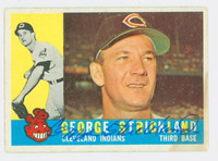 George Strickland AUTOGRAPH d.10 1960 Topps #63 Indians CARD IS CLEAN VG/EX