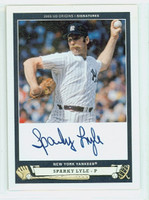 Sparky Lyle AUTOGRAPH 2005 Upper Deck Origins Signatures Yankees CERTIFIED 