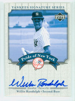 Willie Randolph AUTOGRAPH 2003 Pride of the Yankees SINGLE PRINT CERTIFIED 