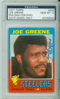 Joe Greene AUTOGRAPH 1971 Topps #245 Rookie Card Steelers [AUTO GRADE PSA 10 GEM MINT] PSA 10 