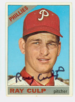 Ray Culp AUTOGRAPH 1966 Topps #4 Phillies CARD IS VG; AUTO CLEAN