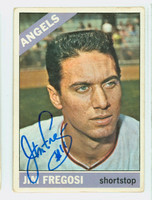 Jim Fregosi AUTOGRAPH d.14 1966 Topps #5 Angels CARD IS G/VG; CRN AND EDGE WEAR