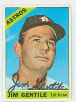 Jim Gentile AUTOGRAPH 1966 Topps #45 Astros CARD IS F/P; CREASES